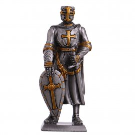 Toy Tin Soldier Medieval Knight Templar with shield and sword 105mm