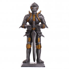 Toy Tin Soldier Medieval Knight with two-handed sword and blade breakers 105mm