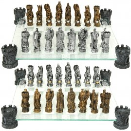 Chessmen Knights and Dragons