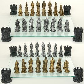 Chess set Knights with pawns