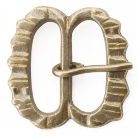 Serrated spectacle buckle, 1350-1500