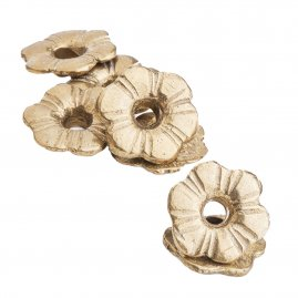 Flower-shaped washers, 10pcs
