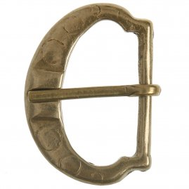 Type D decorated brass buckle (1 pc)