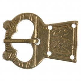 Medieval brass buckle Owl