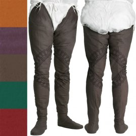 Cotton Chausses under your leg armour, 12th – 14th cen.