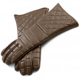 Light practical gloves - brown