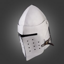 Battle Ready Bascinet, Close Combat Helmet, 14th cen.