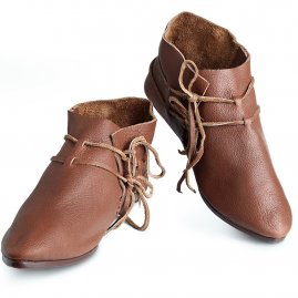 Laced low shoes, 11th/12th century