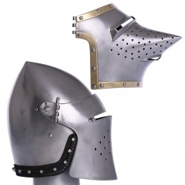 Hounskul or bascinet with replaceable visor, 14th-15th cen.