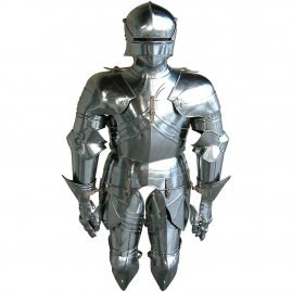 Gothic half suit armor de luxe with double fixing