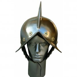 Morion with brass fittings