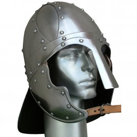Viking helmet with cheek plates