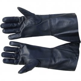 Leather gloves of black goat skin