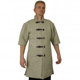 Quilted tunic with rivets