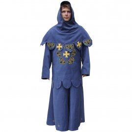 Surcoat with cape decorated with appliques