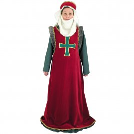 Medieval costume with cross