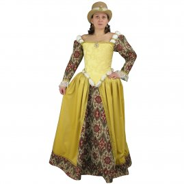 Renaissance dress with hat