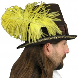 Men's hat with feathers