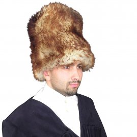 Fur hat from sheep fur