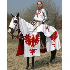 Horse Caparison, surcoat and a banner