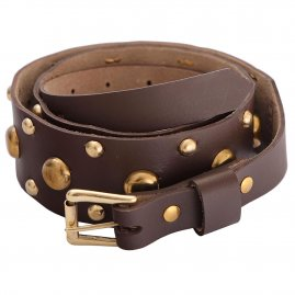 Studded Leather Belt with buckle