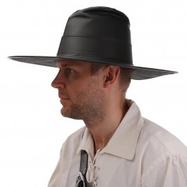 Leather hat Fedora