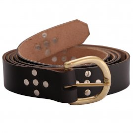 Leather Long Belt with studs