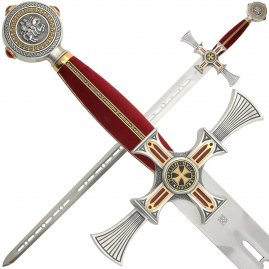 Damascened Templar Sword
