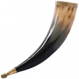 Drinking Horn of Rollo with Leather Holster