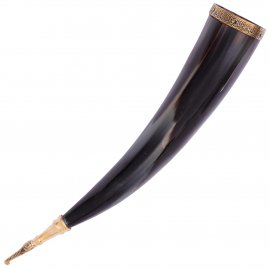 Drinking Horn of Jarl with Leather Holster