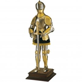 Golden knight in Armor with Sword, 61cm Resin Statue