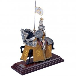 Mounted French Knight of King Arthur