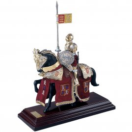 "Mounted Knight ""Lancelot"" with red caparison"