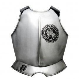 Breastplate with TEMPLAR KNIGHTS emblem and cross