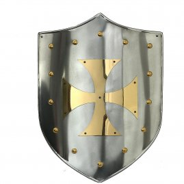 Shield with brass Templar cross
