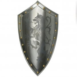 Shield with lion rampant