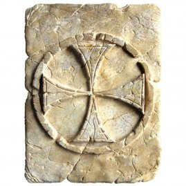 Templar Cross made of Stone 20x15cm