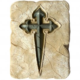 Saint James′s Cross made of Stone 20x15cm