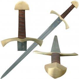 Single-hand-sword Sagot with brass pommel and guard