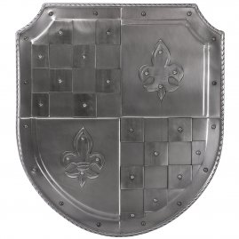 Ornamental historical all-steel-shield