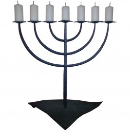 Seven-branched candlestick Menorah