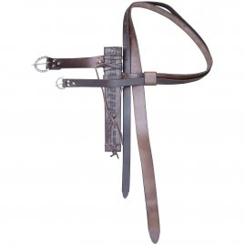 Sword hanger with a half-long scabbard