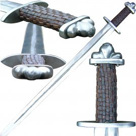 Viking sword Donar with checked grip winding, class B