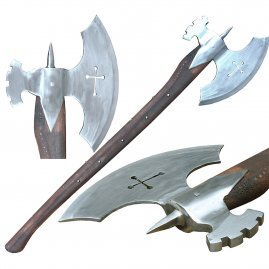 Two hand war axe with a hammer