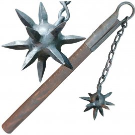 Flail with spiked iron ball