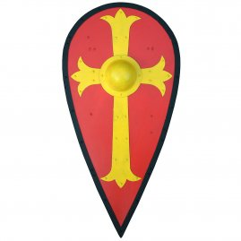 Kite shield with cross