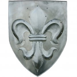 Shield with beaten fleur-de-lis