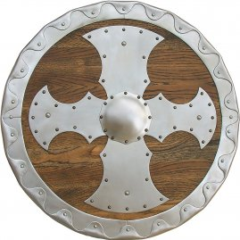 Round shield with metal fittings 55cm