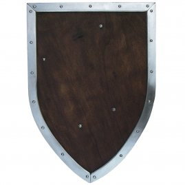 Light heater shield with metal border