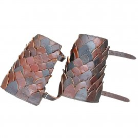 Bracers made of leather scales (pair)